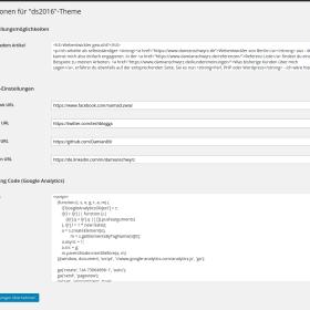 WordPress Theme: Eigene Optionen-Seite erstellen und integrieren